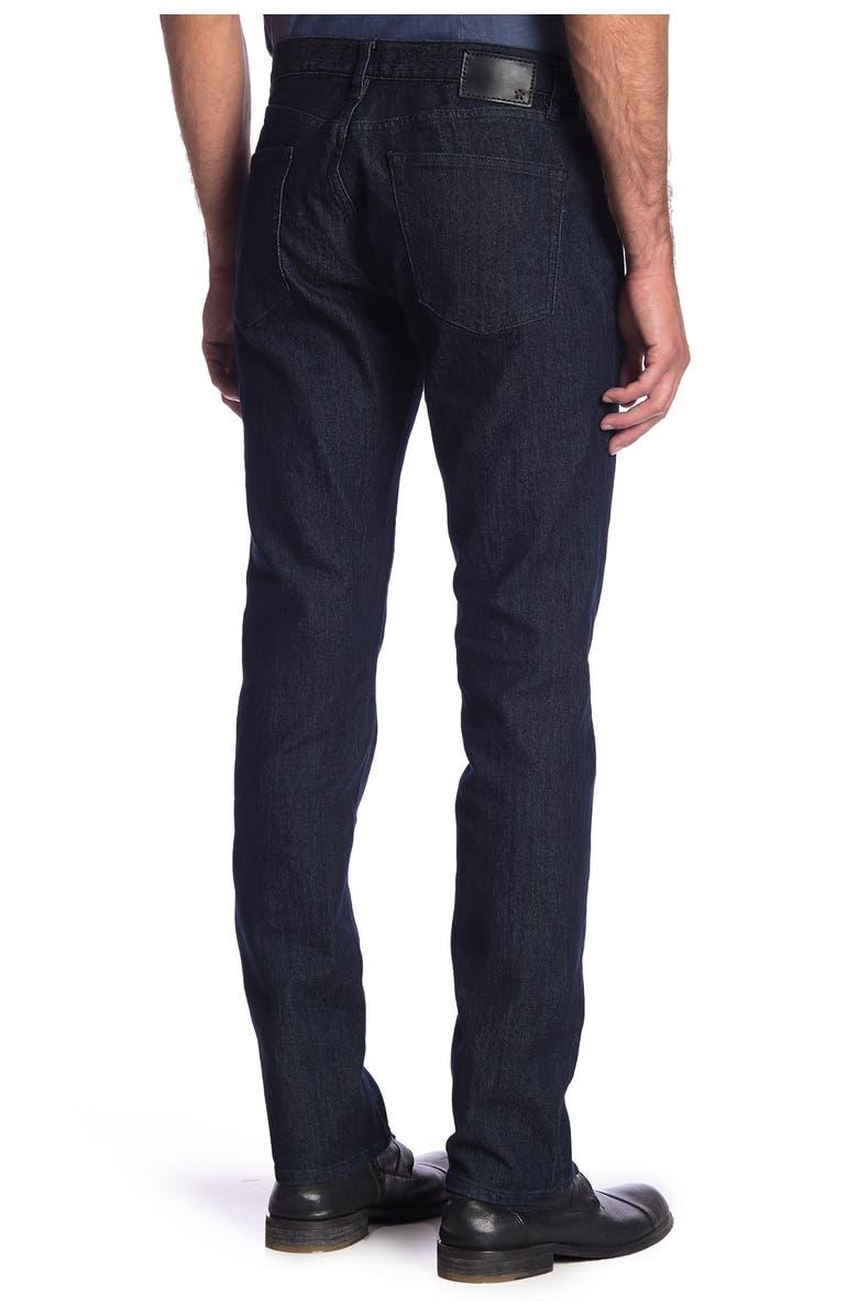 JOHN VARVATOS STAR USA Bowery Straight Leg Jeans, Main, color, DARK INDIGO