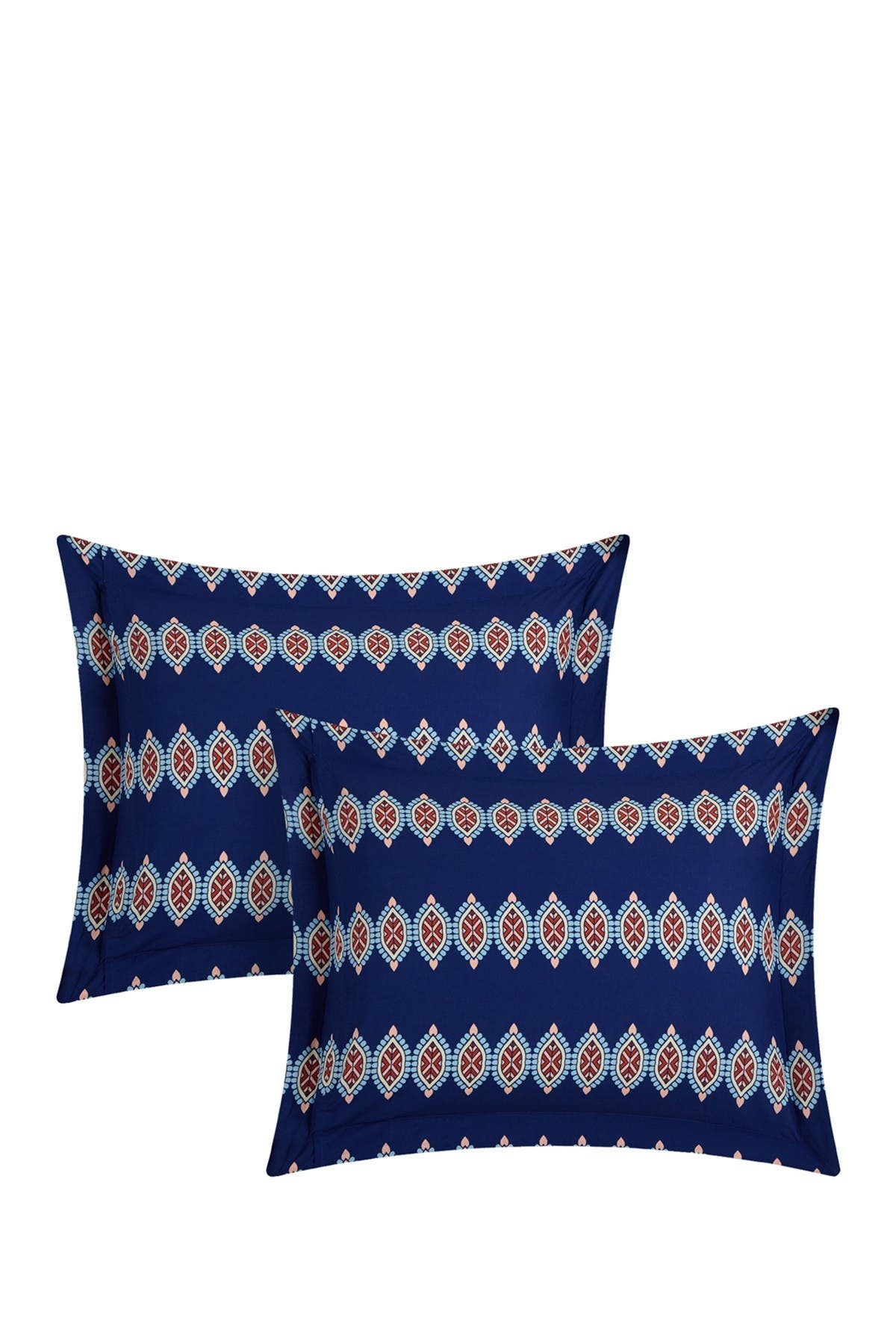 Image of Chic Home Bedding Queen Yucca Boho Printed Reversible Quilt Set - Blue