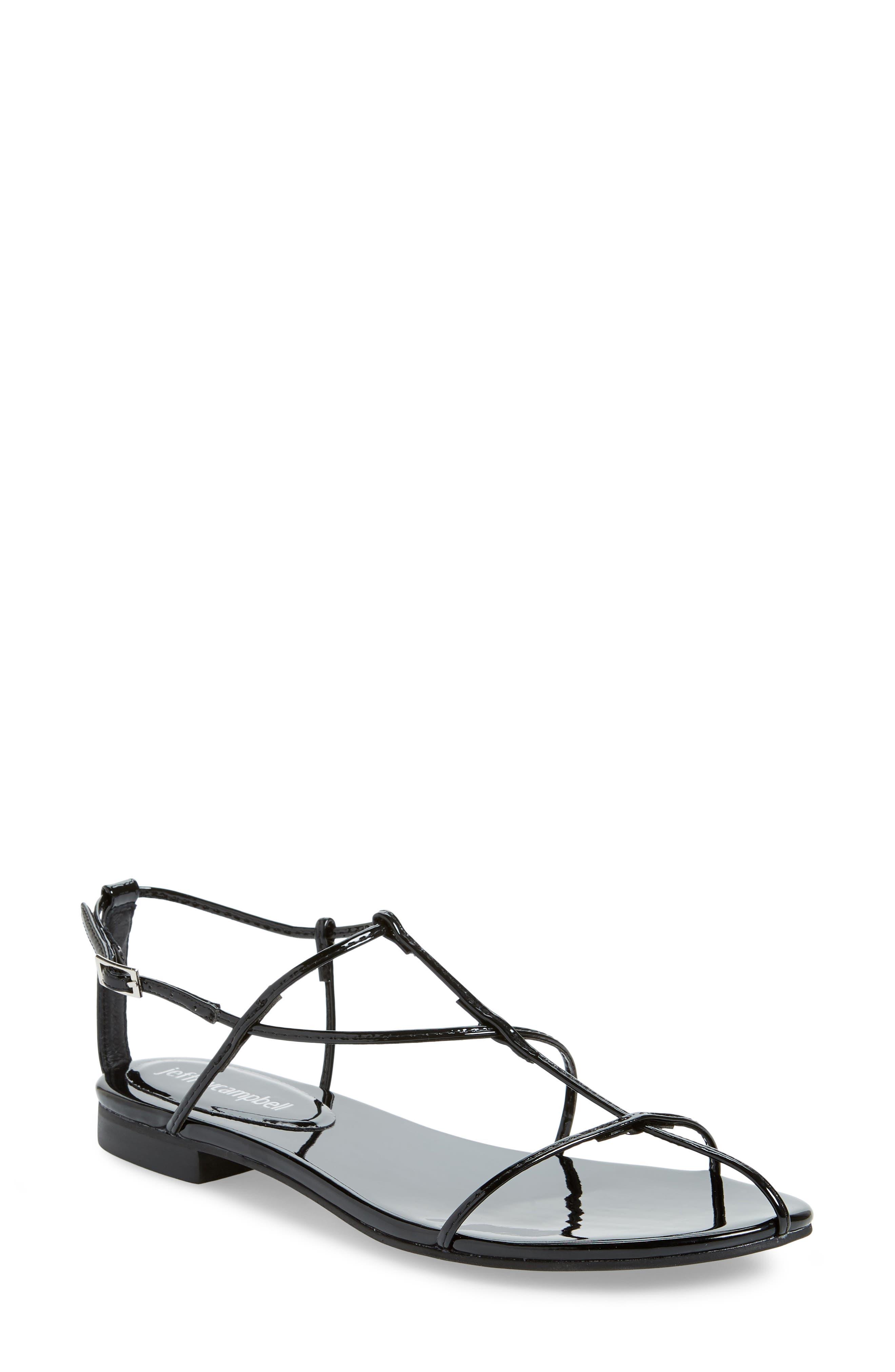 Deceipt Sandal, Main, color, BLACK PATENT