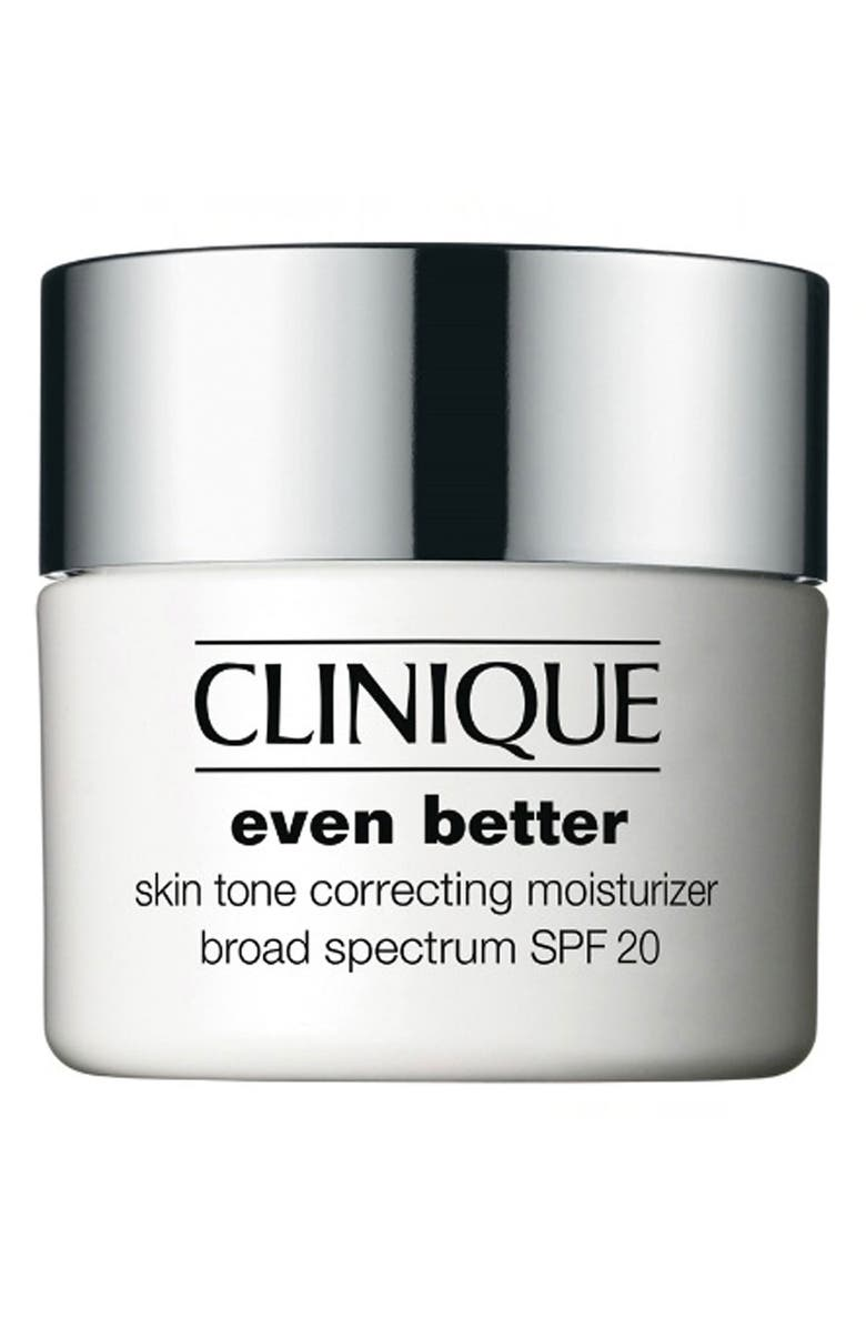 CLINIQUE Even Better Skin Tone Correcting Moisturizer Cream SPF 20, Main, color, NO COLOR