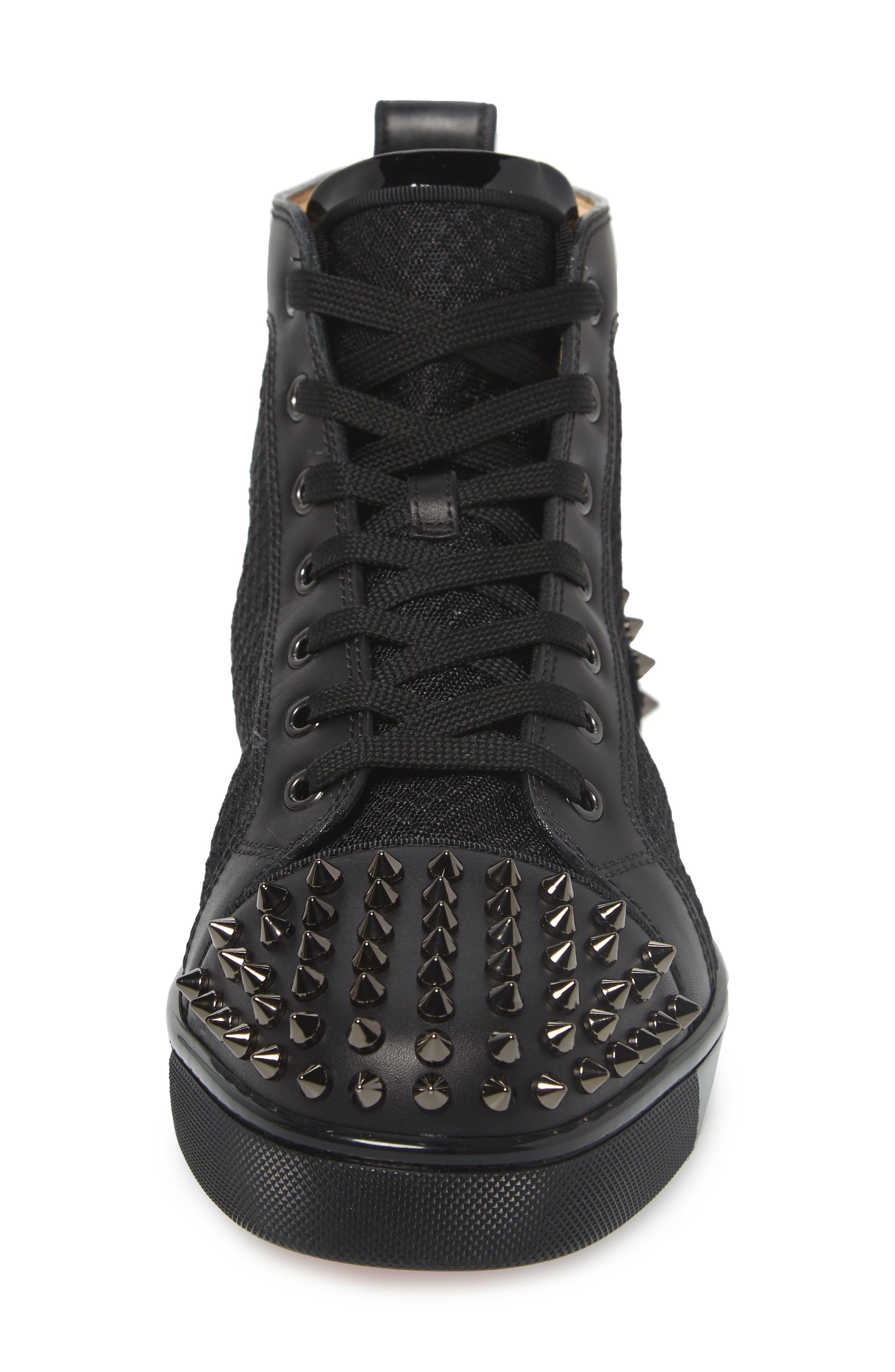,                             AC Lou Spikes 2 High Top Sneaker,                             Alternate thumbnail 4, color,                             BLACK
