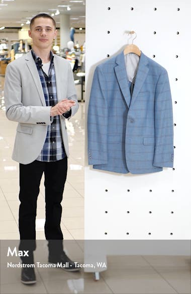New York Classic Fit Windowpane Wool Blend Sport Coat, sales video thumbnail