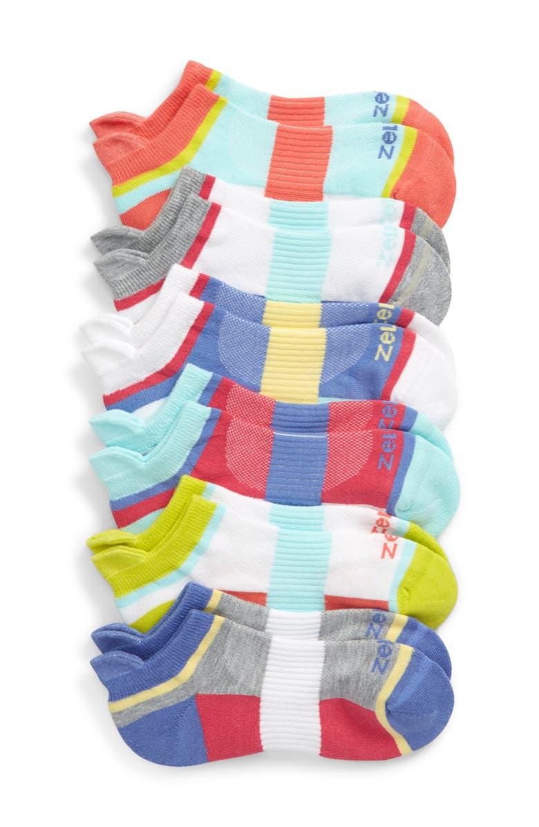 TUCKER + TATE Zella Girl 6-Pack Sport Tab Socks, Main, color, BLUE DENIM MULTI