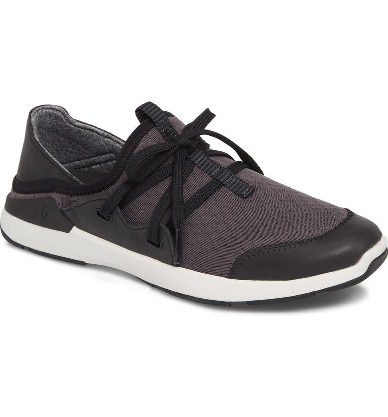 OLUKAI Miki Li Convertible Sneaker, Main, color, BLACK/ BLACK FABRIC