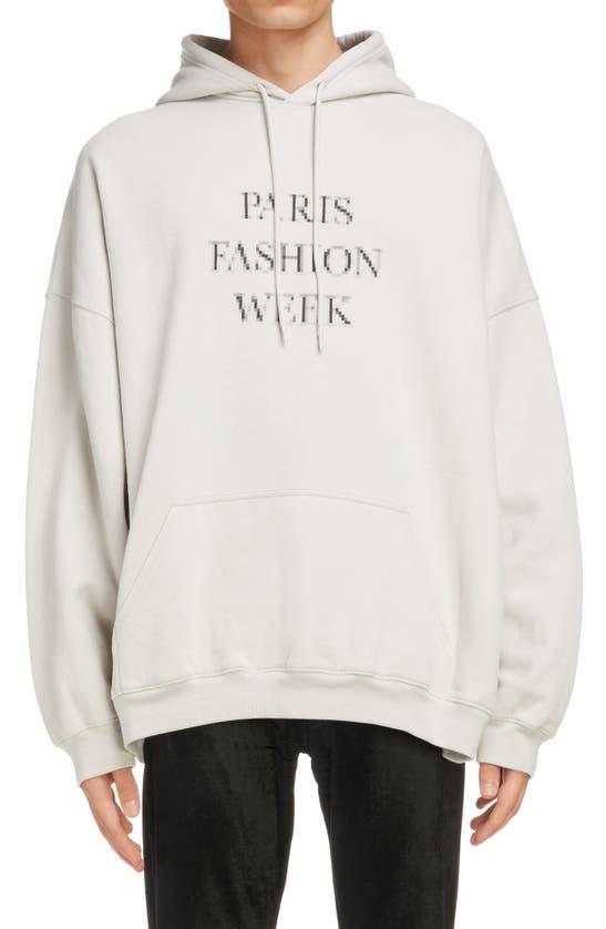 Balenciaga Cottons PARIS FASHION WEEK GRAPHIC OVERSIZE HOODIE