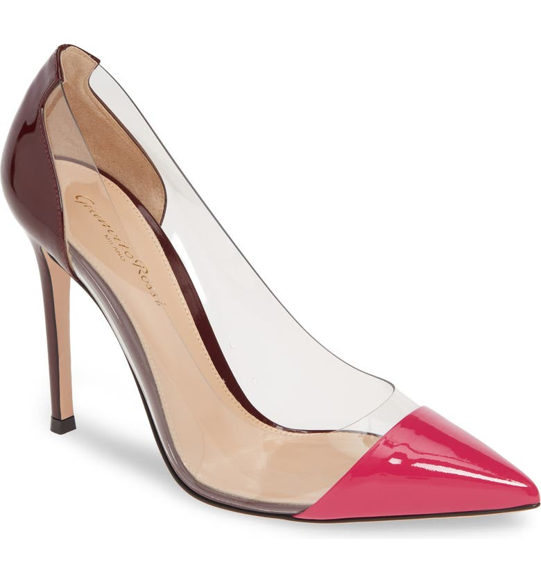 GIANVITO ROSSI Colorblock Pump, Main, color, FUSCHIA/ PVC