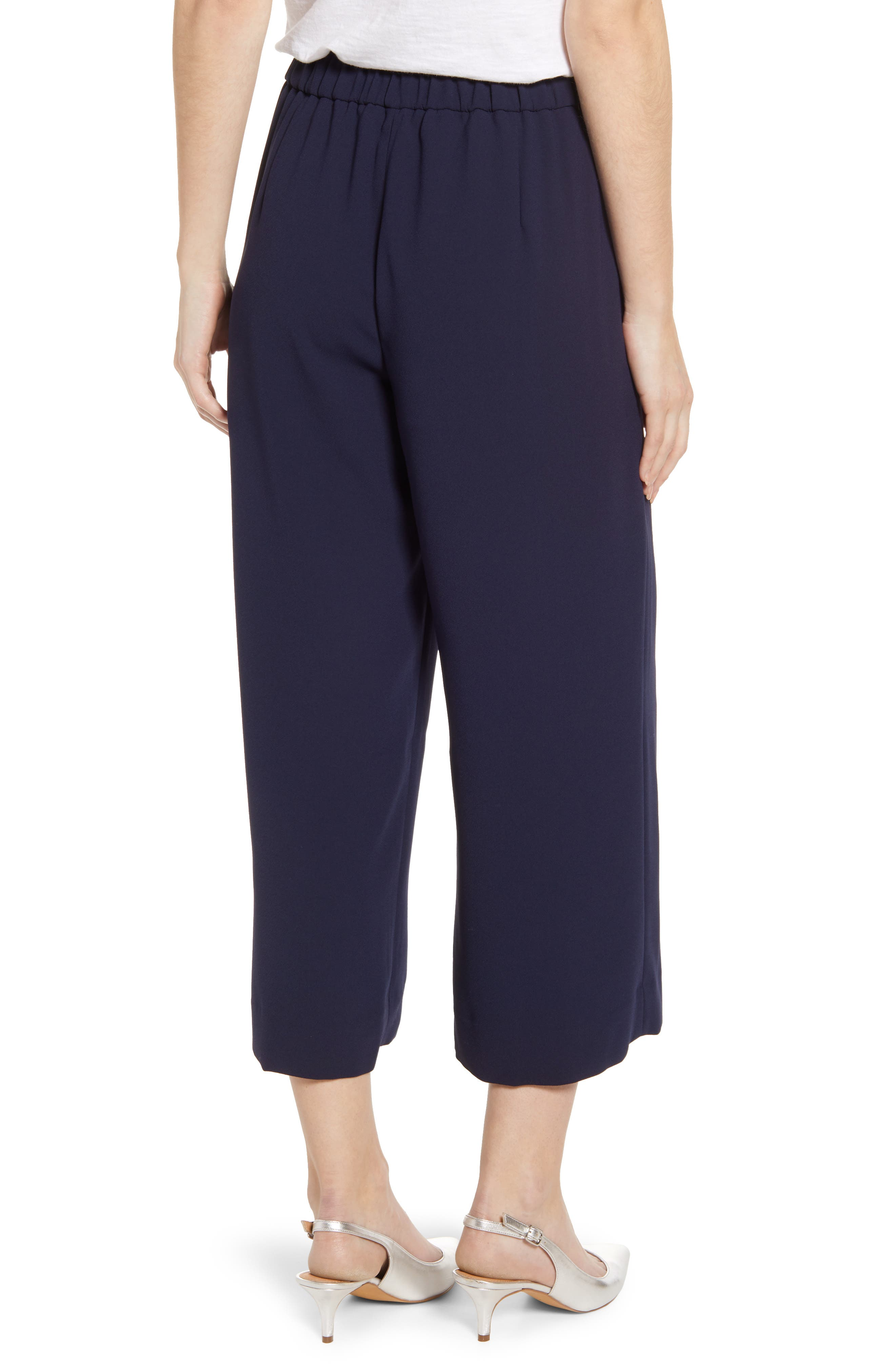 ,                             Wide Leg Crop Pants,                             Alternate thumbnail 6, color,                             400