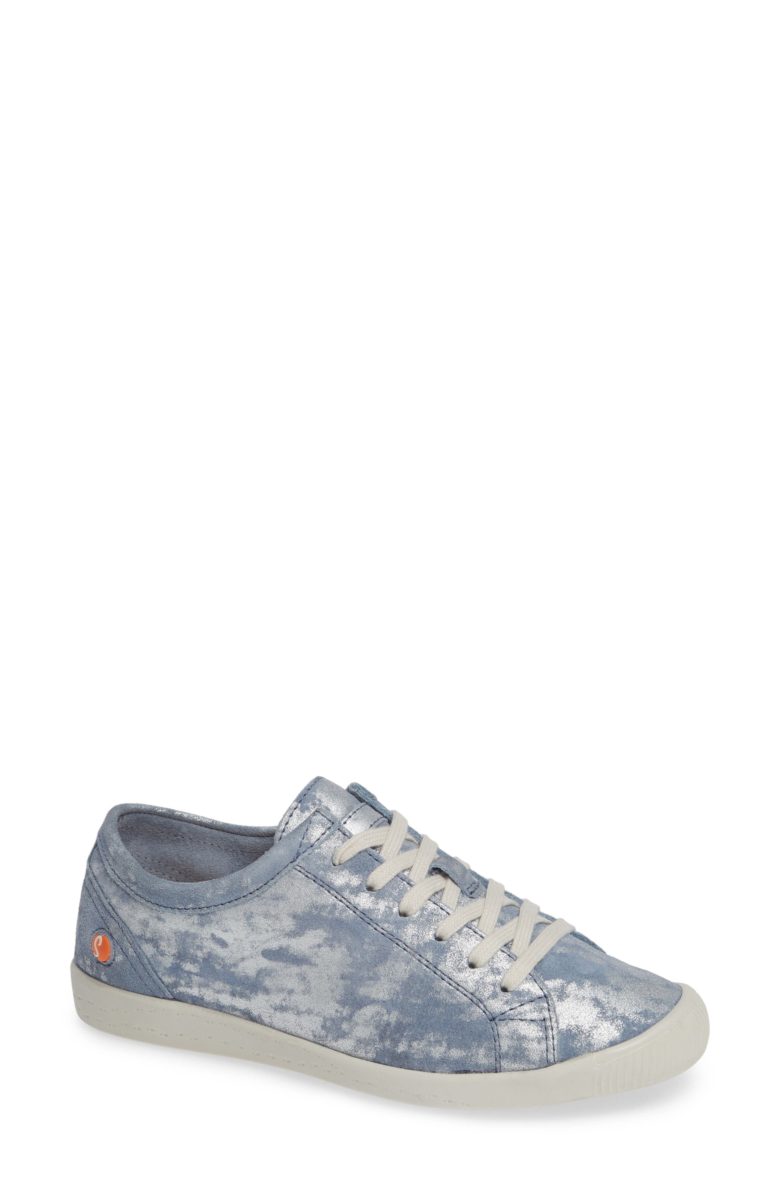 Softinos By Fly London Isla Distressed Sneaker - Blue