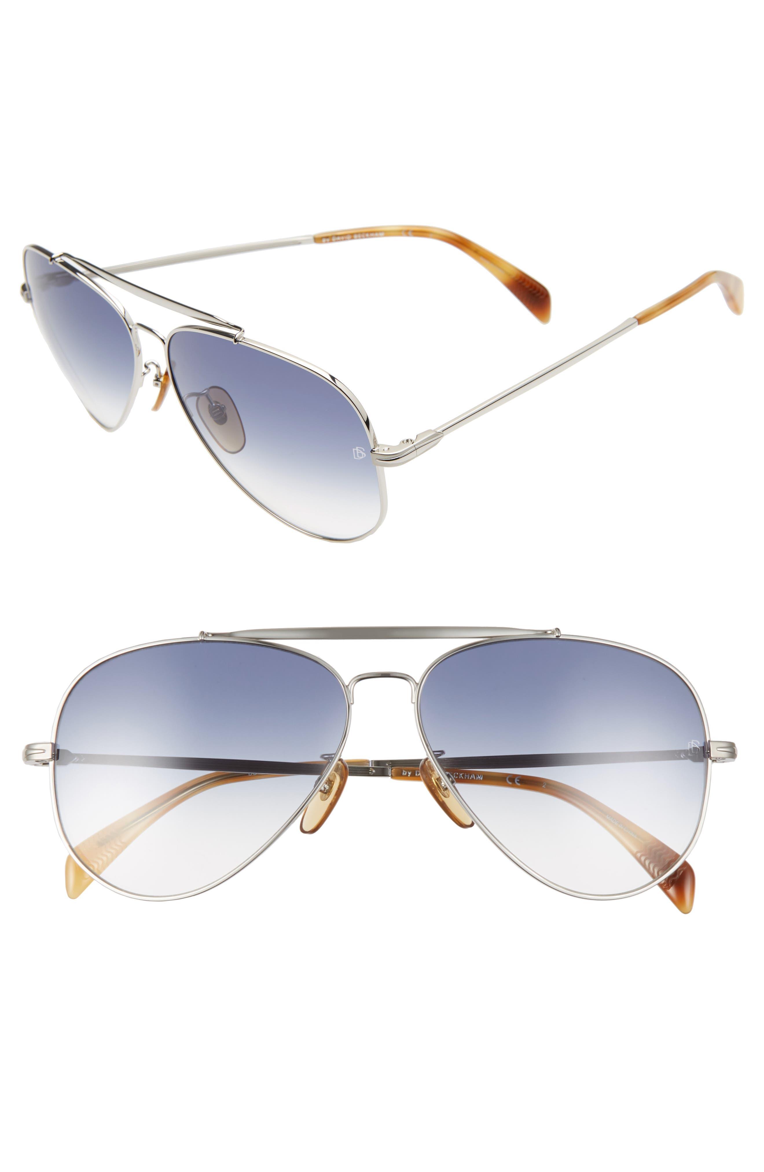 Men's Eyewear By David Beckham Db 1004/s 62mm Oversize Aviator Sunglasses