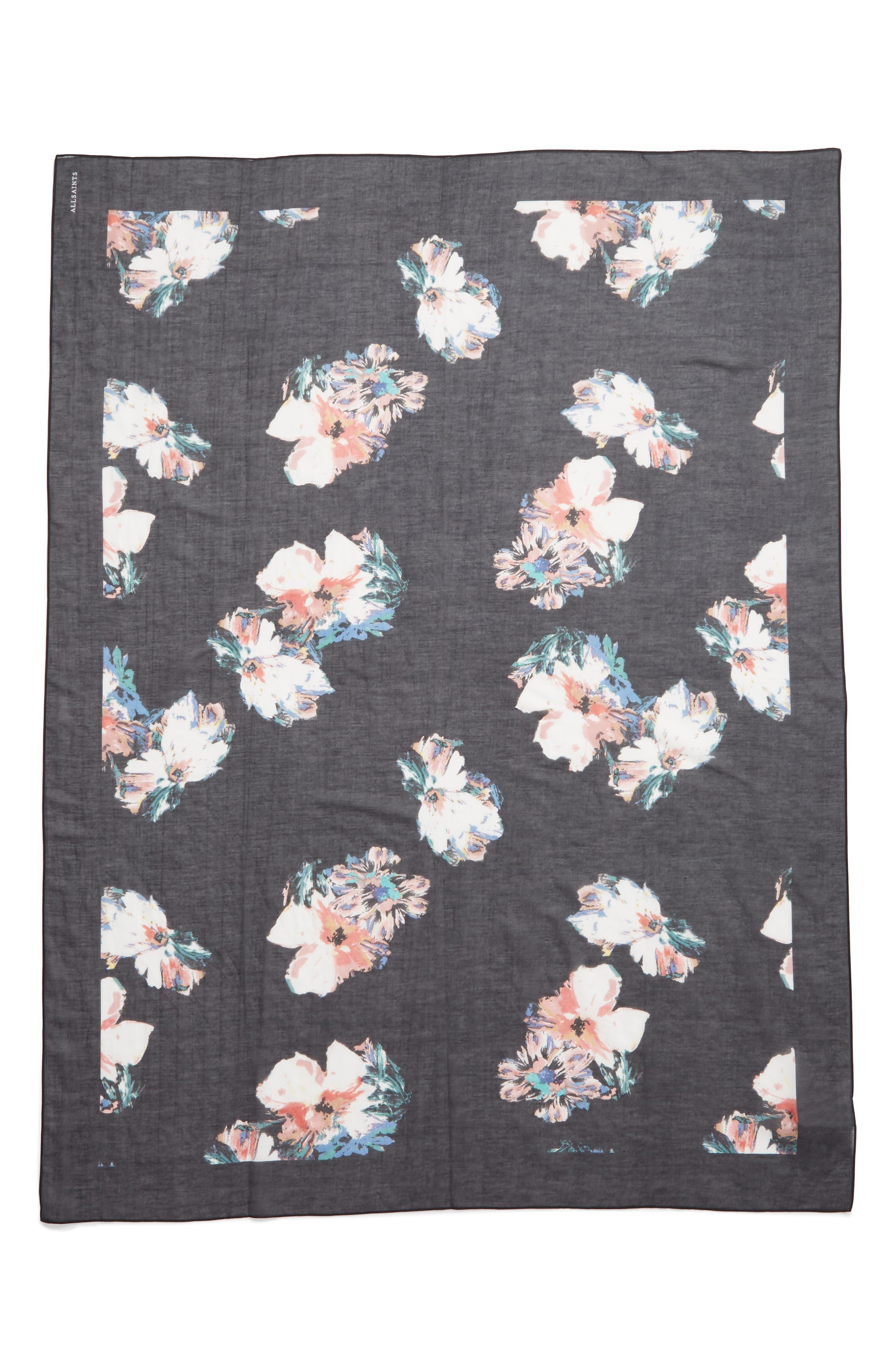,                             Violy Cotton & Silk Pareo,                             Alternate thumbnail 3, color,                             BLACK
