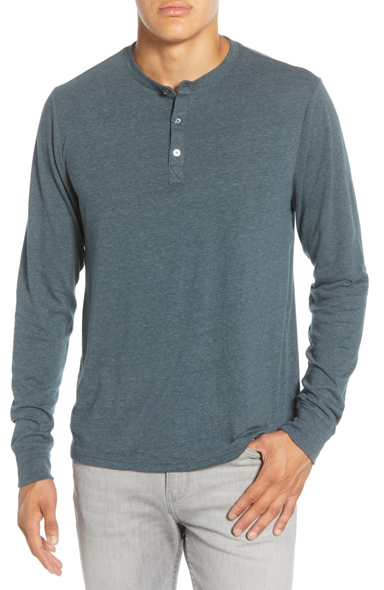 THREADS 4 THOUGHT Long Sleeve Henley, Main, color, GUNMETAL