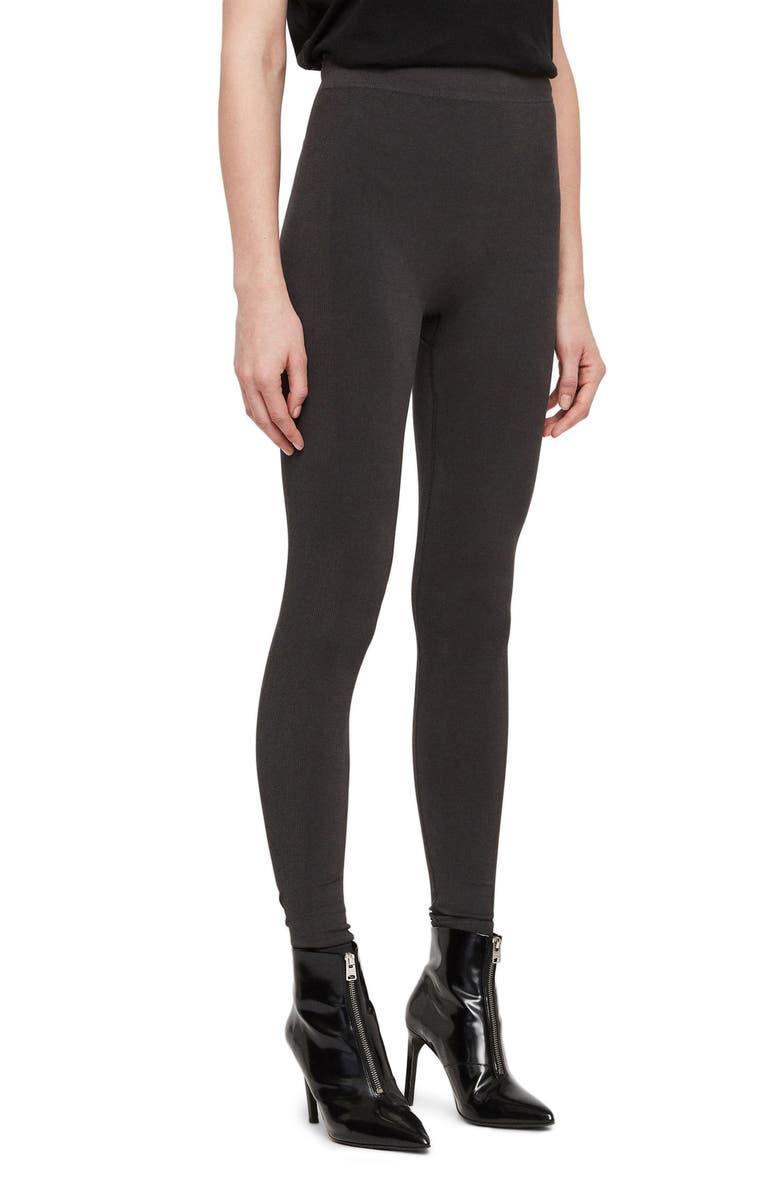 ALLSAINTS Bri Leggings, Main, color, CHARCOAL