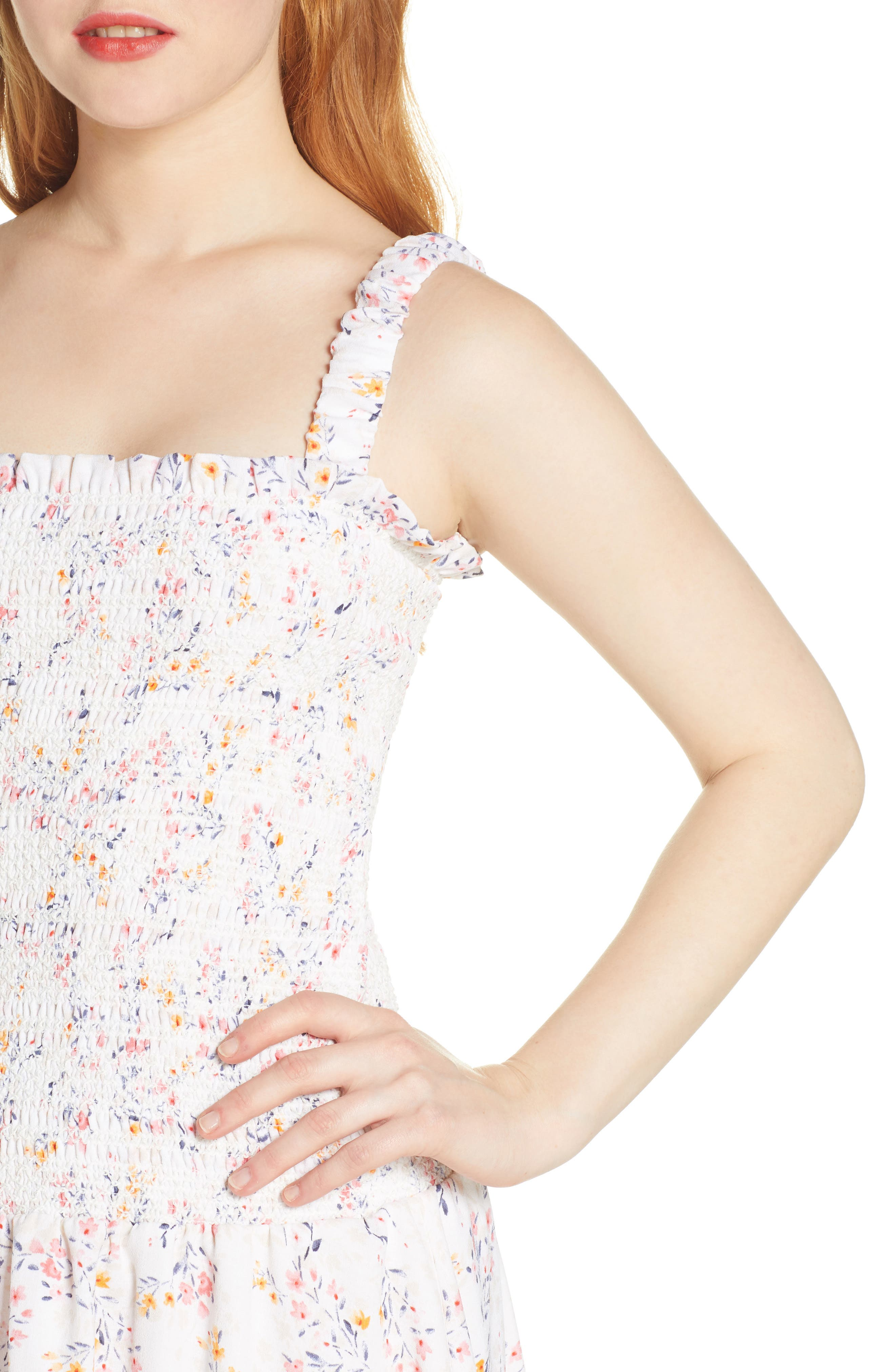 ,                             x Dress Up Buttercup Eastside Luv Floral Minidress,                             Alternate thumbnail 5, color,                             FIELD FLOWERS