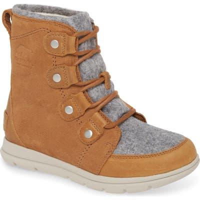 Sorel Explorer Joan Waterproof Boot Collar, Brown