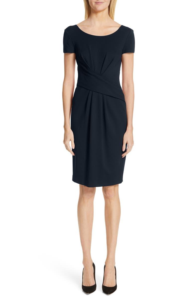 EMPORIO ARMANI Milano Jersey Dress, Main, color, NAVY