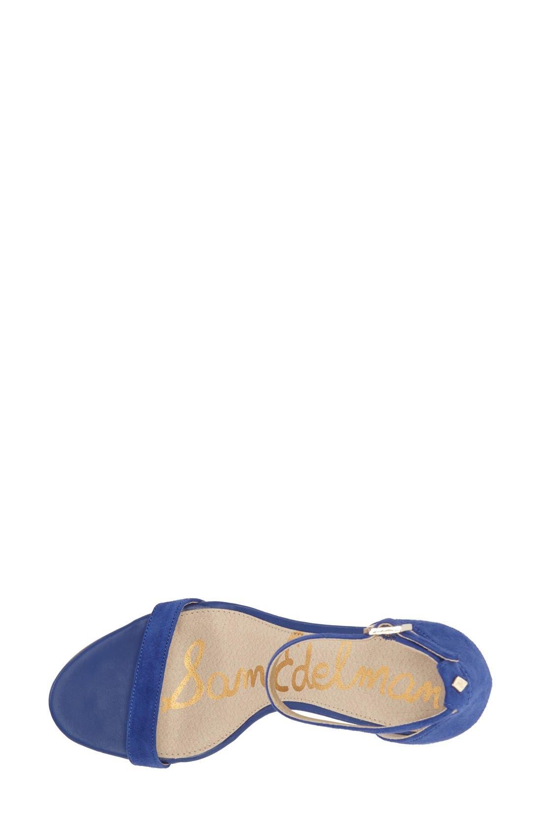 ,                             'Patti' Ankle Strap Sandal,                             Alternate thumbnail 196, color,                             402