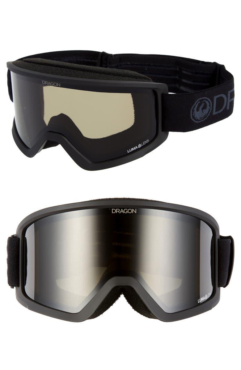 DRAGON DX3 OTG Snow Goggles with Base Lenses, Main, color, BLACKOUT/ DARK SMOKE