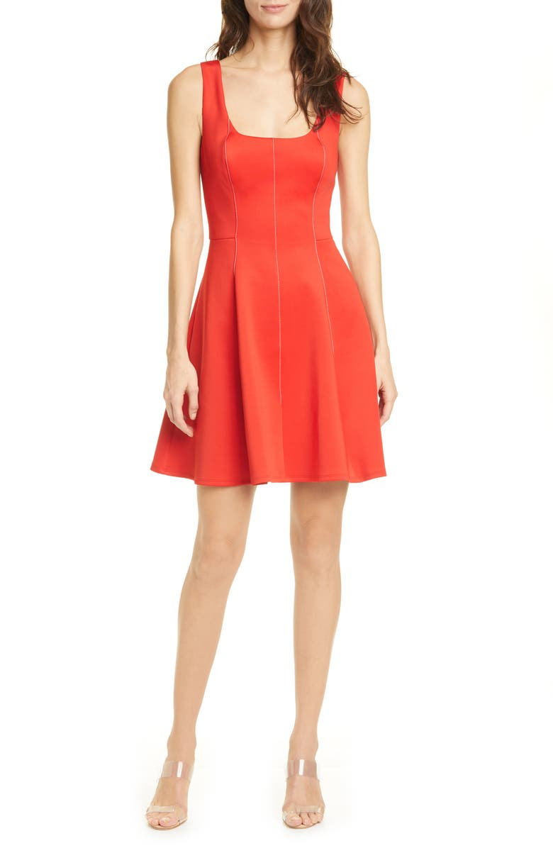 TED BAKER LONDON Lohanna Fit & Flare Dress, Main, color, RED