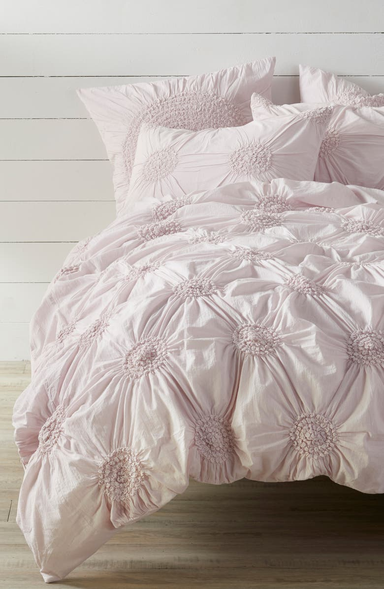 NORDSTROM AT HOME 'Chloe' Duvet Cover, Main, color, PINK ICE