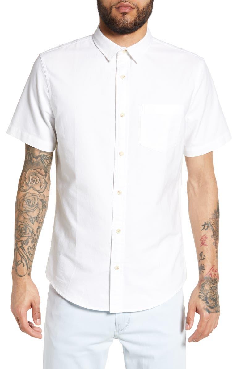 BP. Oxford Cloth Woven Shirt, Main, color, WHITE