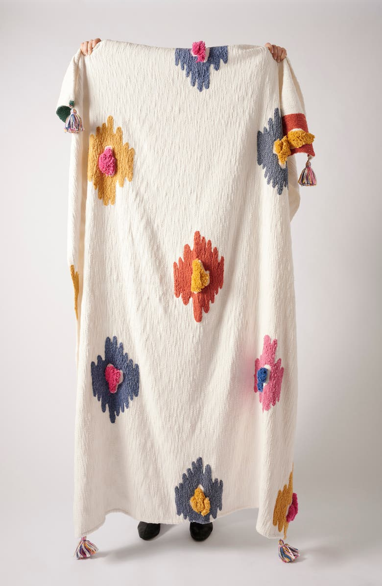 ANTHROPOLOGIE HOME Dal Tufted Throw Blanket, Main, color, ASSORT