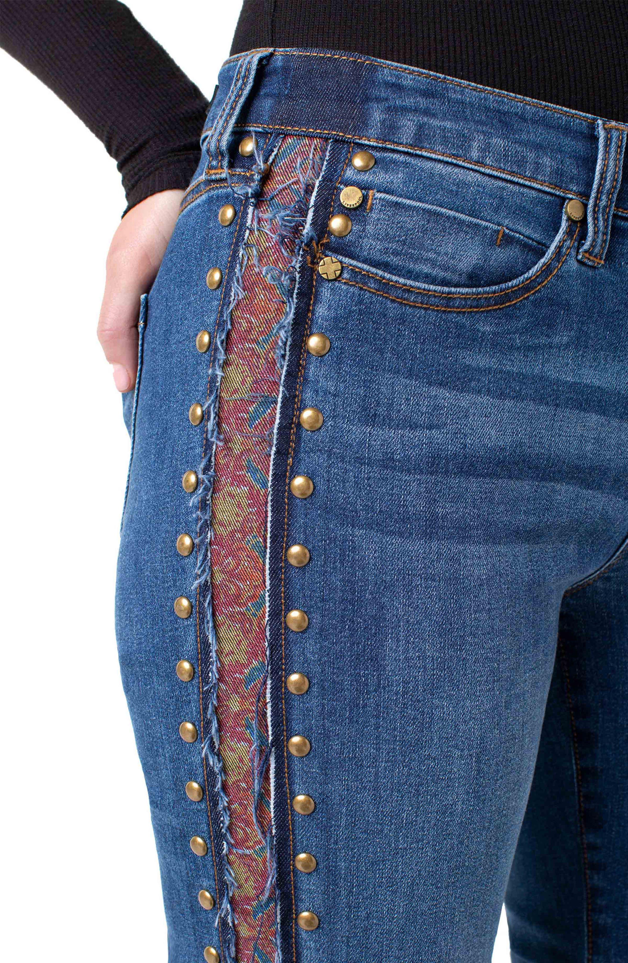 ,                             Colette Embellished Ankle Jeans,                             Alternate thumbnail 4, color,                             403