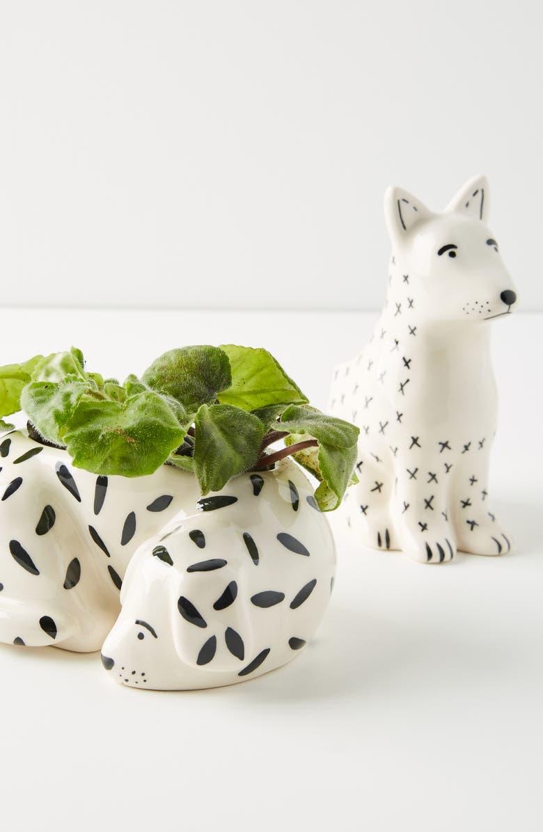 ANTHROPOLOGIE HOME Anthropologie Megan Burke Ceramic Dog Pot, Main, color, 300
