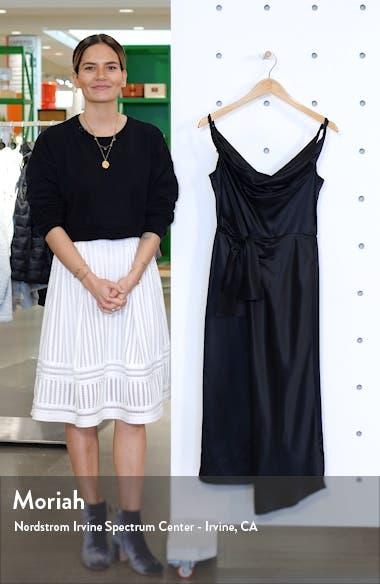 Giselle Draped Satin Midi Dress, sales video thumbnail