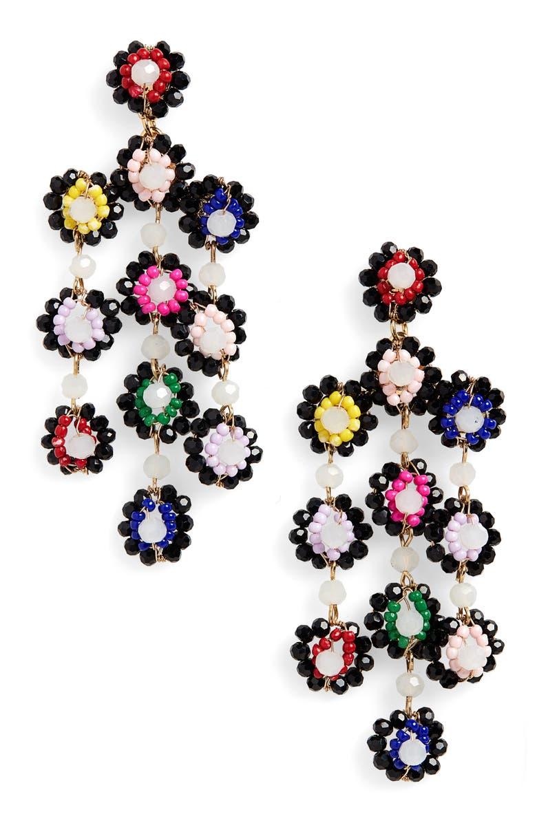 BAUBLEBAR Marigold Drop Earrings, Main, color, BLACK MULTI