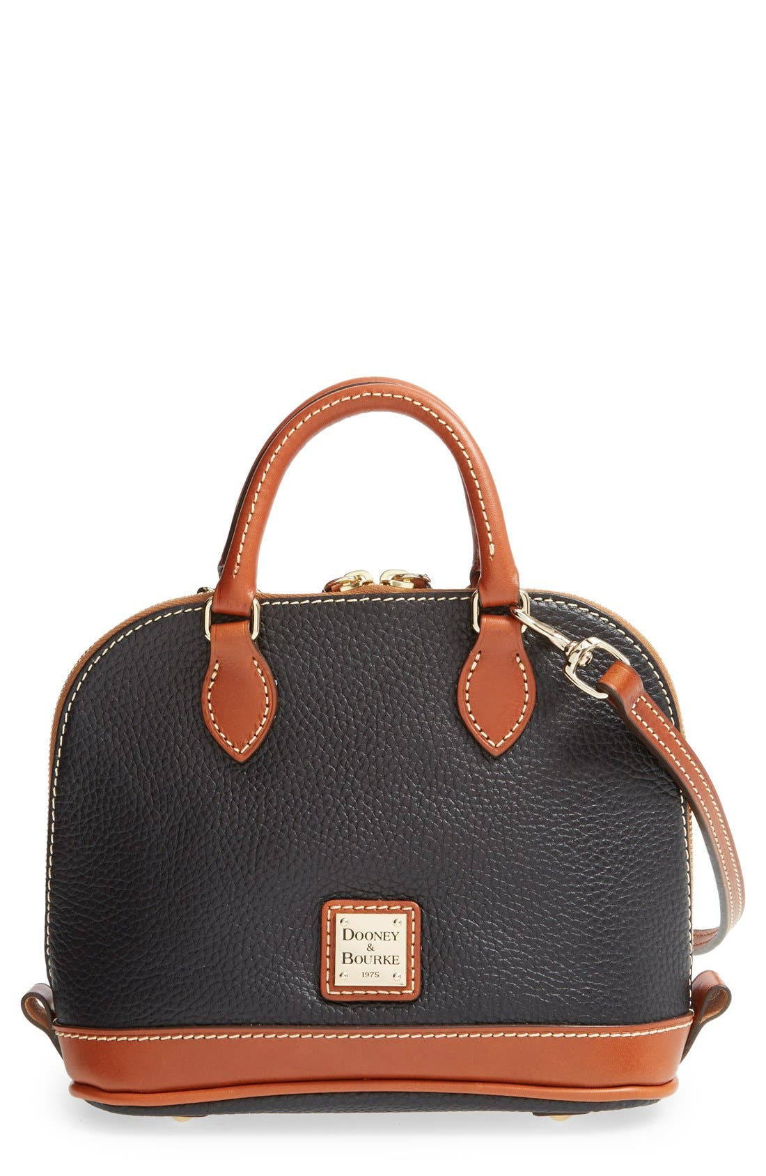'Bitsy' Leather Crossbody Bag, Main, color, 001