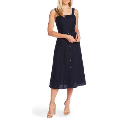 Vince Camuto A-Line Sleeveless Linen Dress, Blue