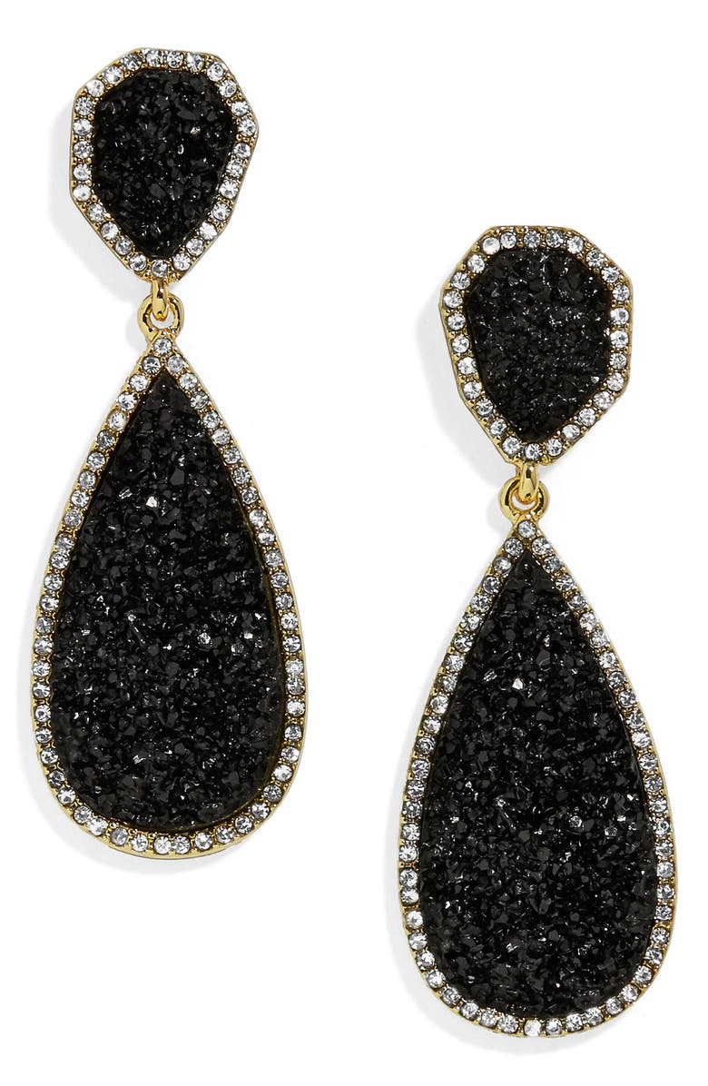 BAUBLEBAR Moonlight Drop Earrings, Main, color, BLACK