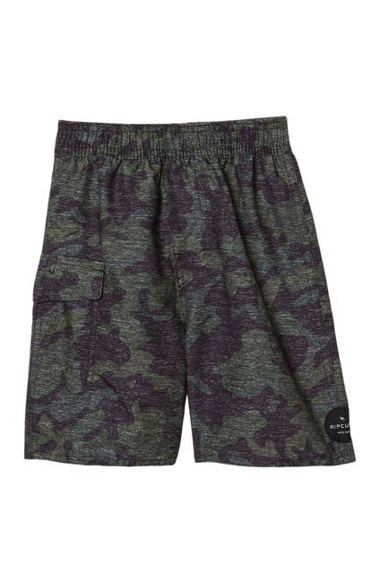 Image of Rip Curl Voyager Camo Print Volley Shorts