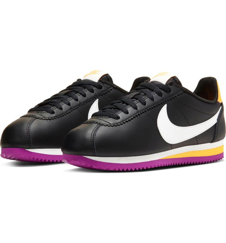 NIKE Classic Cortez Sneaker, Main, color, BLACK/ SUMMIT WHITE