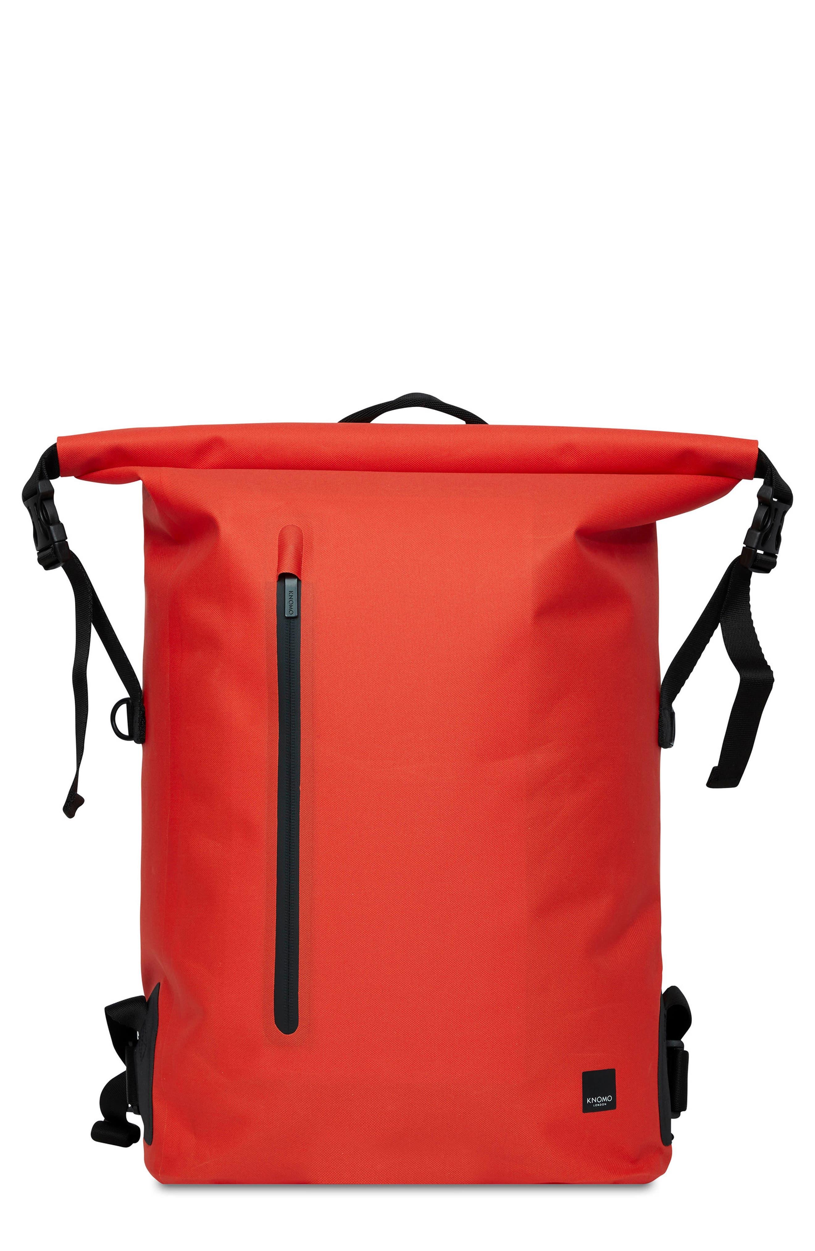 Knomo London Thames Cromwell Roll Top Backpack - Orange