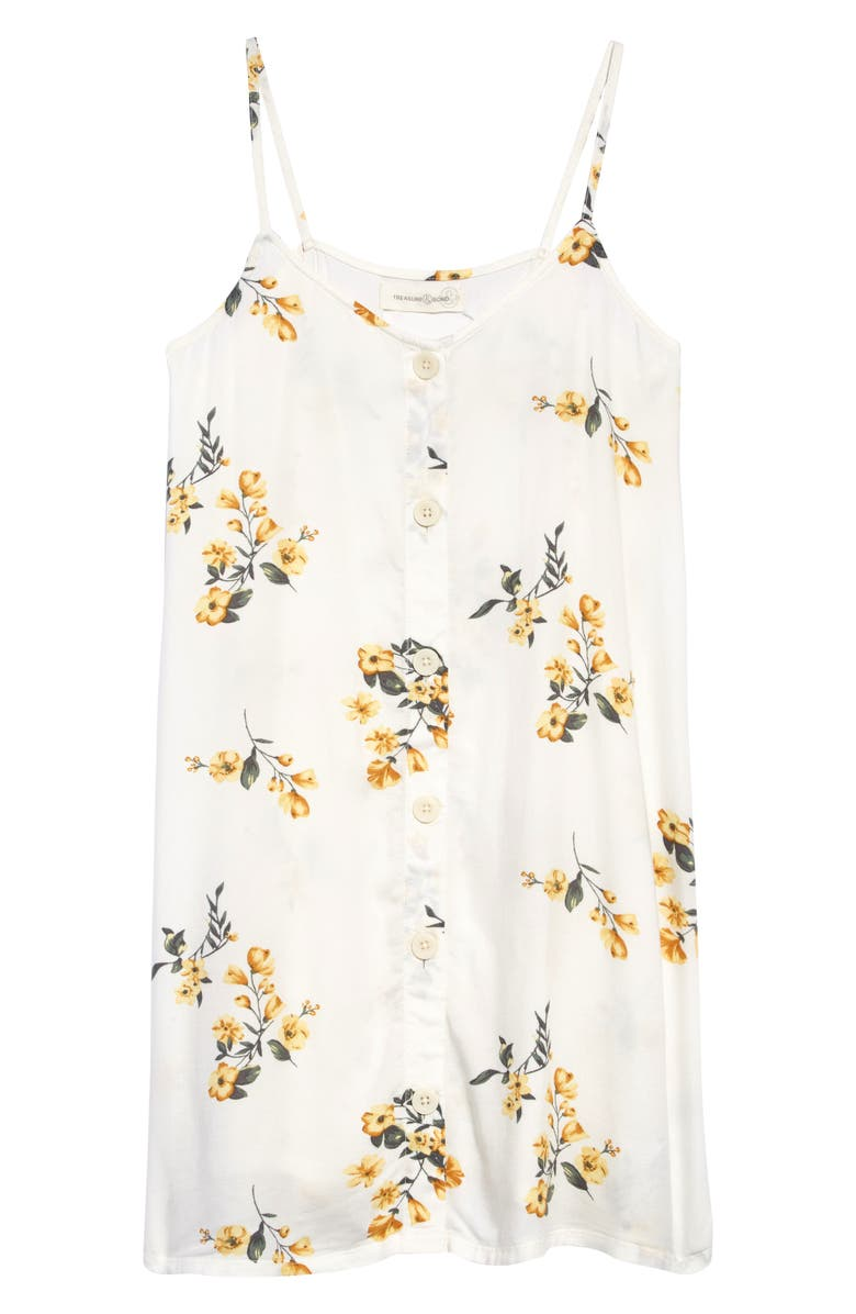 TREASURE & BOND Button Front Slipdress, Main, color, 900