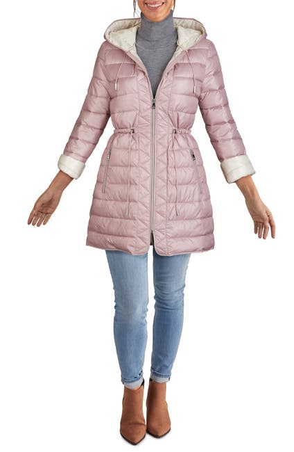Image of Kenneth Cole New York Hooded Packable Quilted Jacket