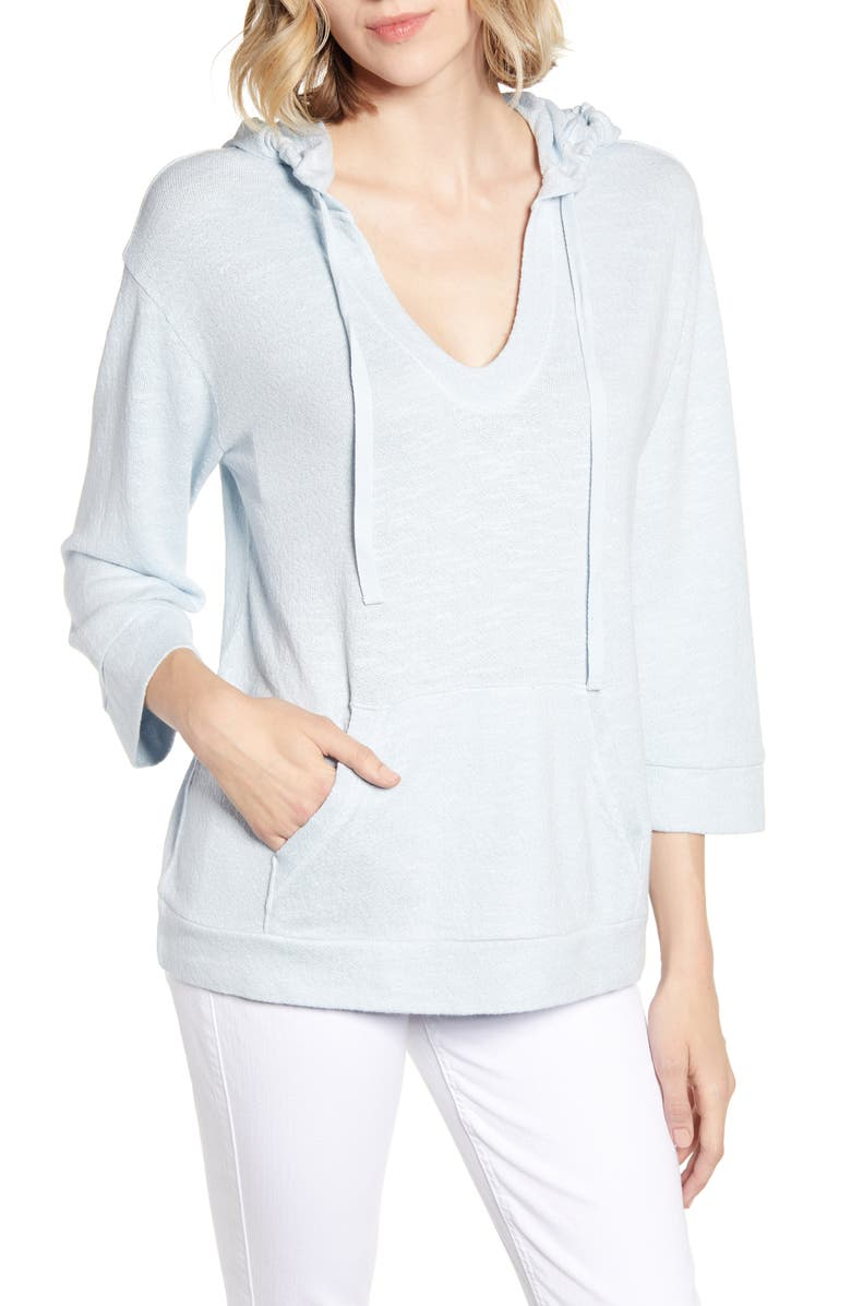 LOU & GREY Textured Hoodie, Main, color, 400