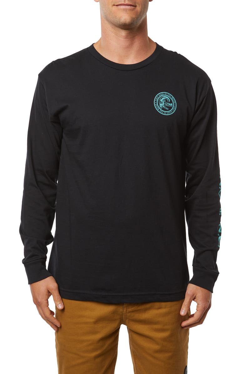 O'NEILL Surfer Seal Long Sleeve T-Shirt, Main, color, BLACK