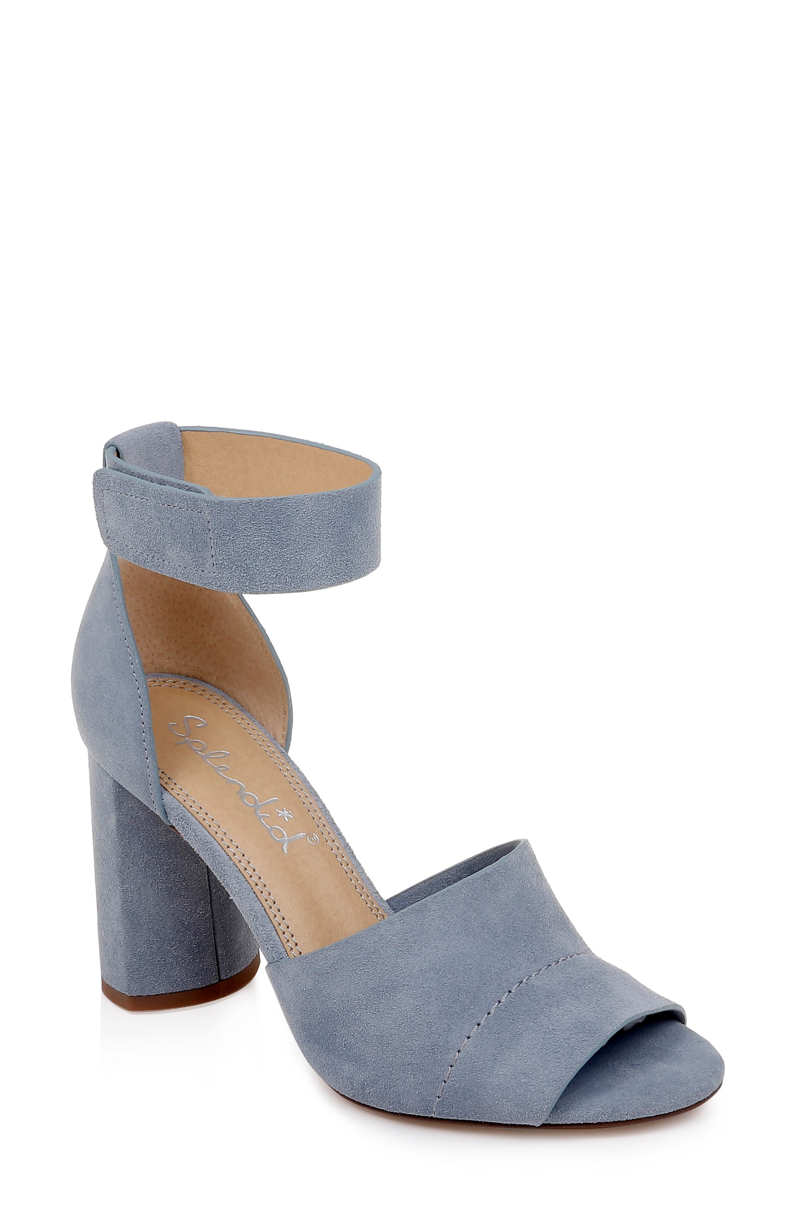 Splendid Thandie Ankle Strap Sandal, Blue