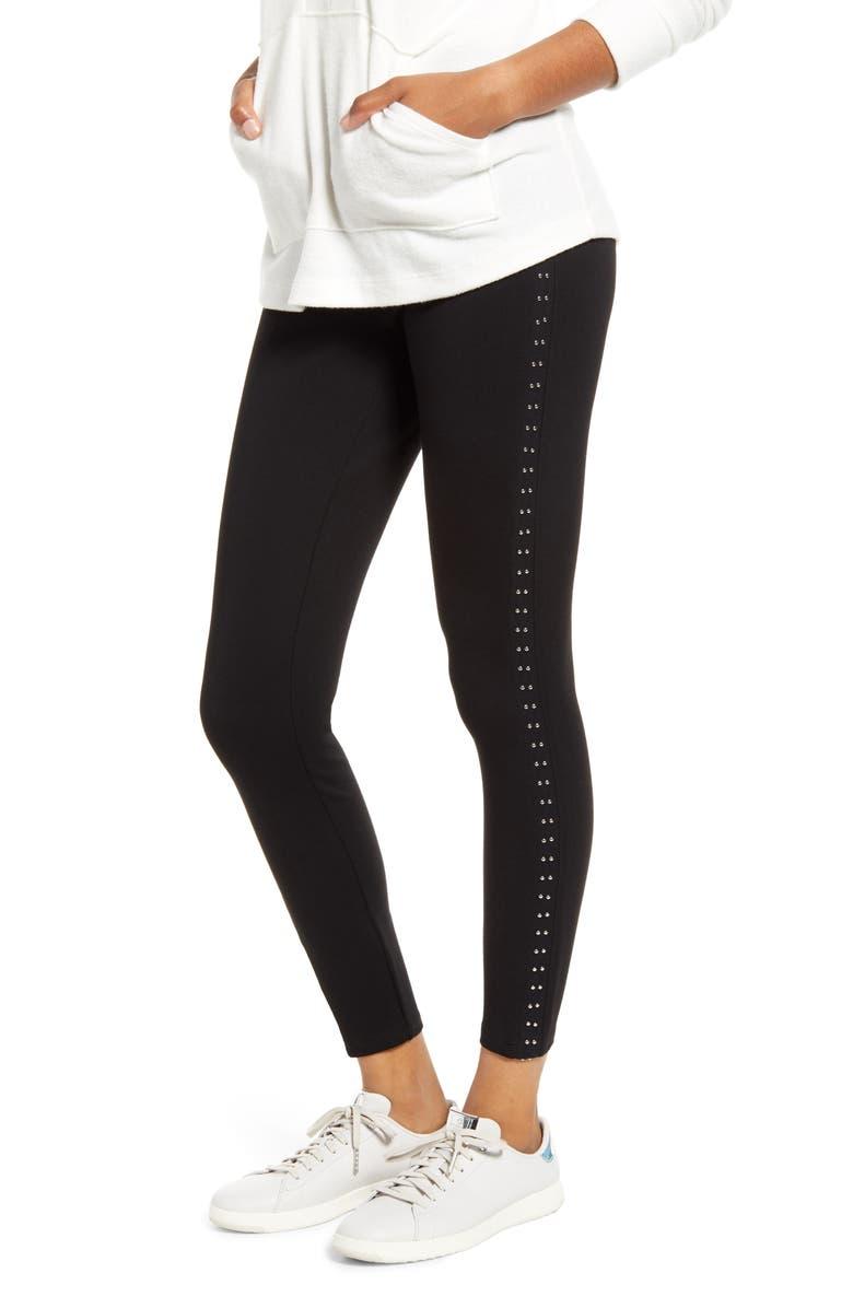 LYSSÉ Hedi Studded Leggings, Main, color, BLACK