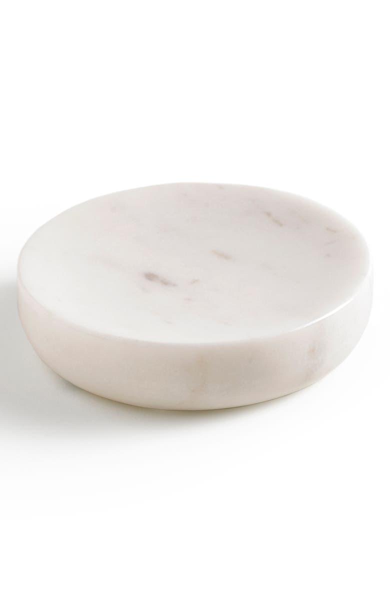 KASSATEX Pietra Soap Dish, Main, color, CALACATTA MARBLE