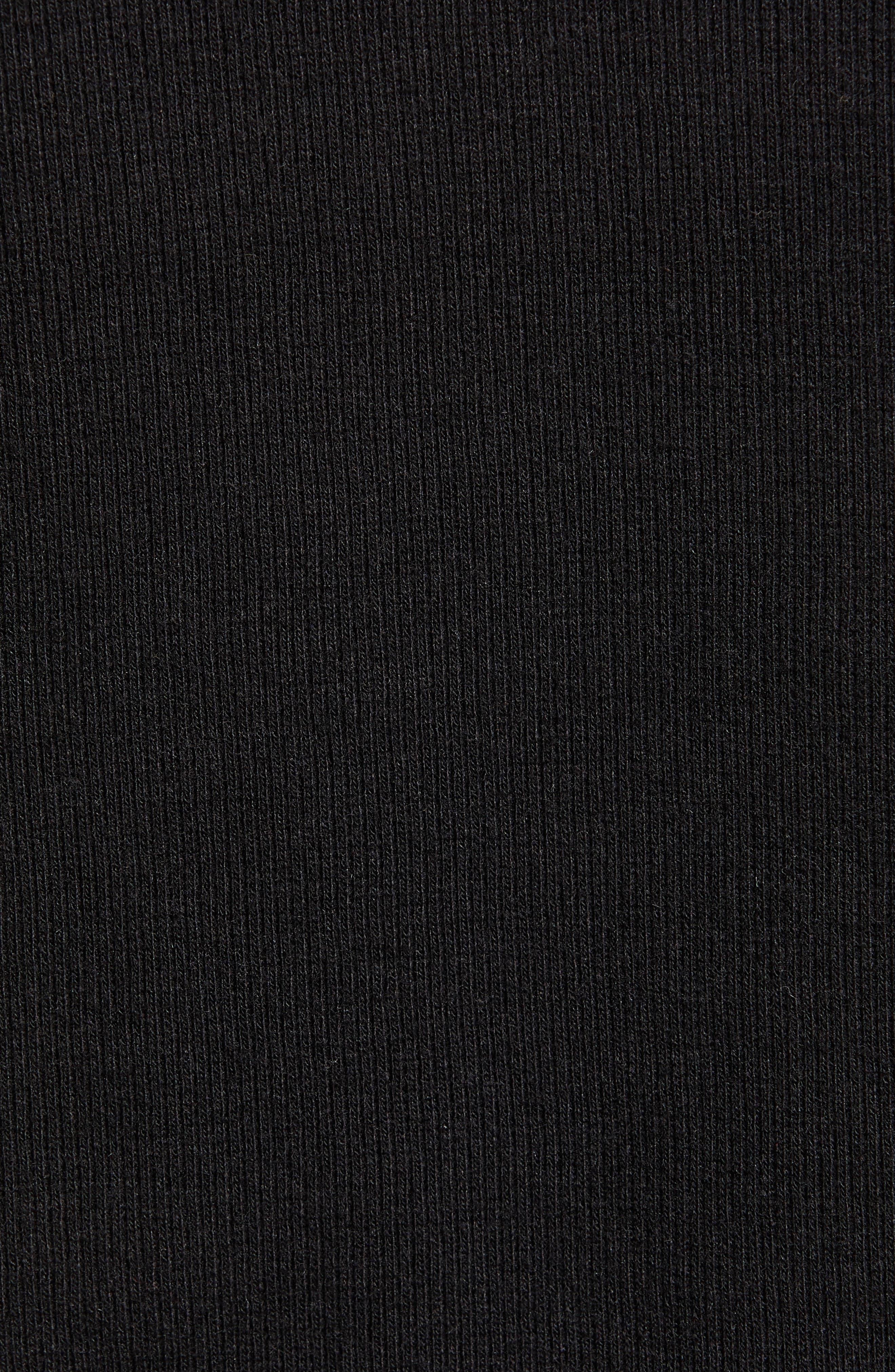 ,                             Rib Knit Bodysuit,                             Alternate thumbnail 5, color,                             BLACK