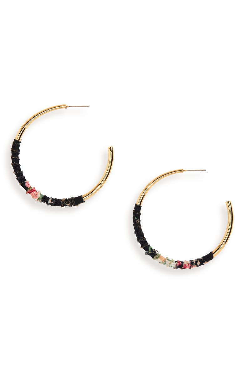UNCOMMON JAMES BY KRISTIN CAVALLARI Womanizer Hoop Earrings, Main, color, GOLD