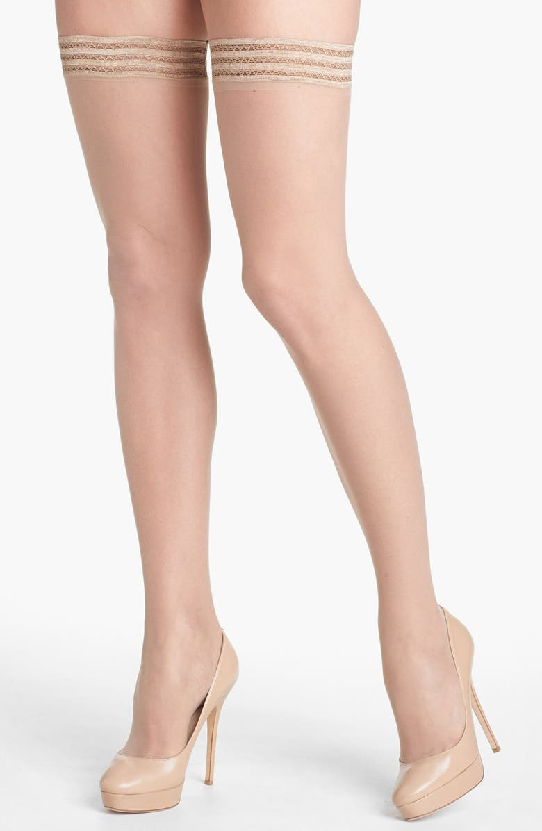 NORDSTROM Sheer Thigh High Stay-Up Stockings, Main, color, LIGHT NUDE