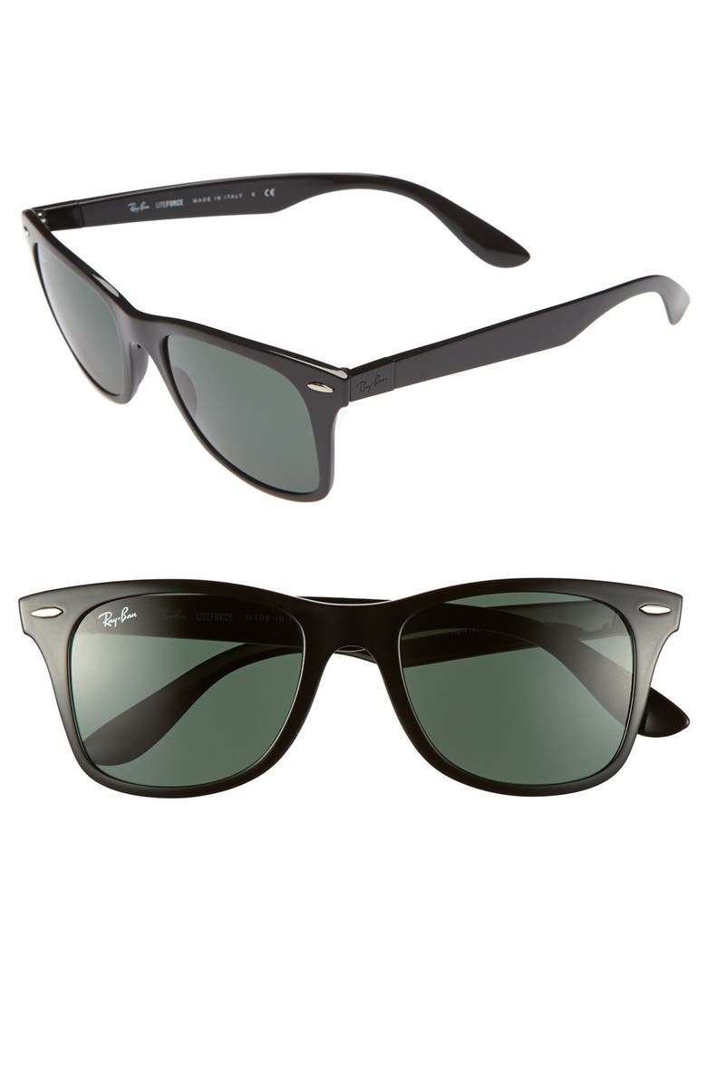 RAY-BAN 52mm Sunglasses, Main, color, GREEN