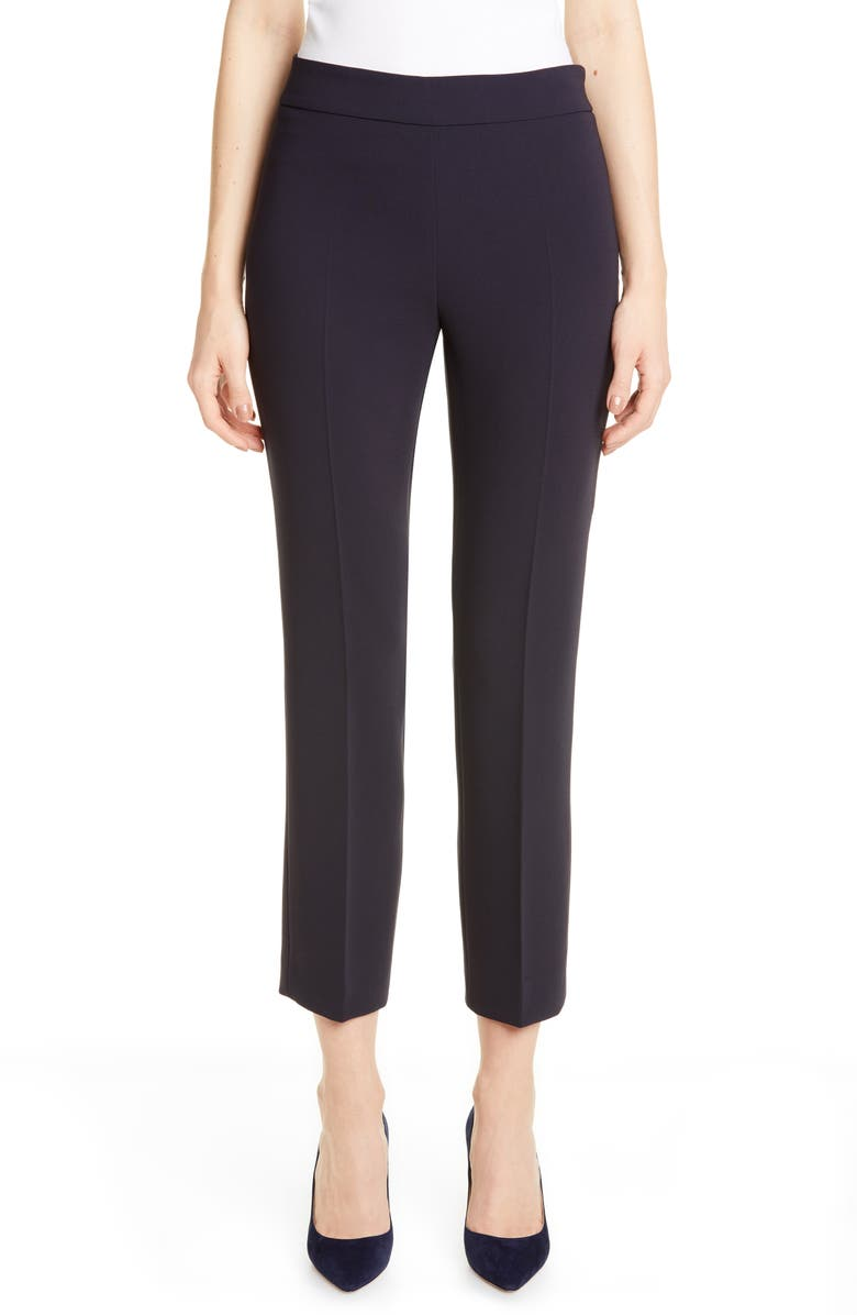 MAX MARA Guglia Cady Crop Trousers, Main, color, NAVY