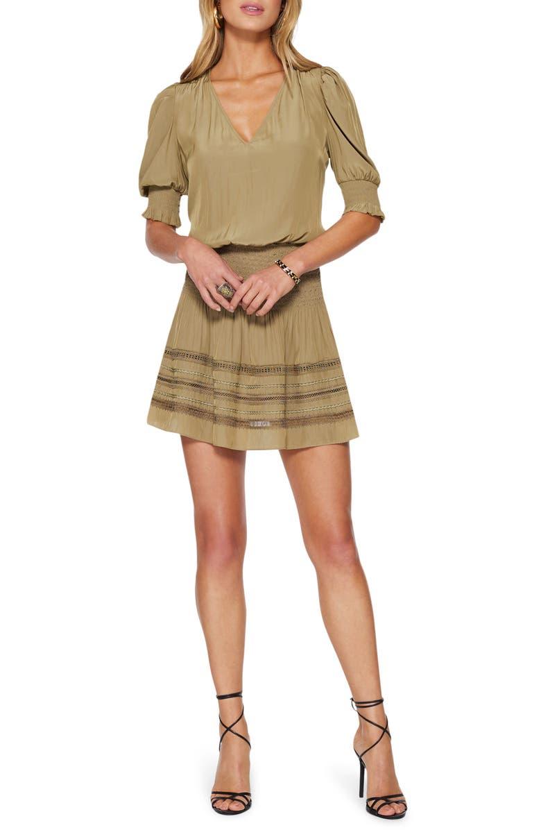 RAMY BROOK Ollie Safari Miniskirt, Main, color, SAFARI