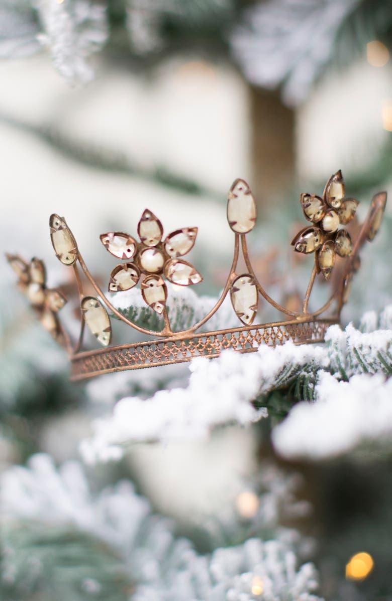 TERRAIN Jewel Flower Crown Decoration, Alternate, color, GOLD