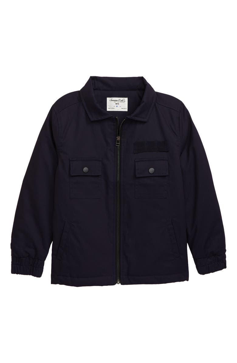 SOVEREIGN CODE Edrie Shirt Jacket, Main, color, NAVY